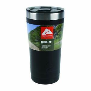 Ozark Trail 20-Ounce Double-Wall Vacuum-Sealed Tumbler (1 Black)