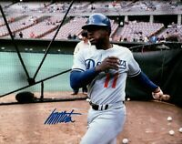 Manny Mota Signed 8X10 Photo Autograph Los Angeles Dodgers Batting Cage Auto COA