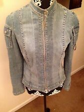 Juicy Couture Denim Jean Women's Jacket Size M Preowned Authentic