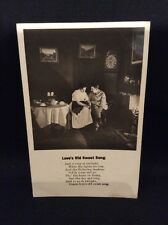 "Vintage ""Love's Old Sweet Song"" Poem Postcard Posted 1905"