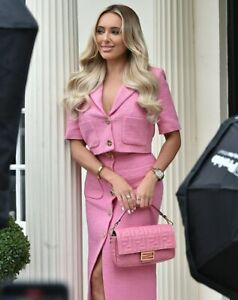 ZARA Pink Textured Skirt with Buttons XS_S_M_L_XL Ref: 2477/600