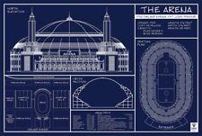 """St. Louis Arena Blueprint 30"""" x 20"""" NHL Blues"""