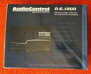 AudioControl D-6.1200 6-Channel Car Amplifier with Digital Signal Processing