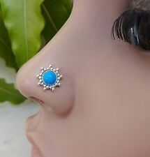 Indian Nose Ring Nose Piercing Brass Silver Crock Screw Nose Pin Nose Jewelry CZ