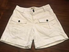 Woman's White Jean Shorts Size 4 American Living