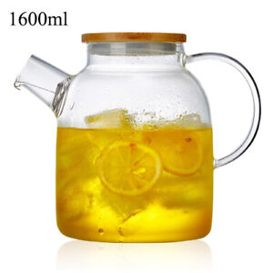 Glass Teapot With Lid Stainless Steel Infuser Strainer Tea Set Kettle Drinkware