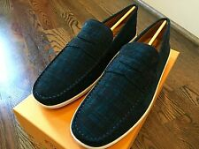 600$ Tod's Navy Limited Edition Suede Shoes Size US 12 Made in Italy