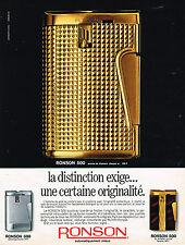 PUBLICITE ADVERTISING 055  1969  RONSON 500  briquet automatique