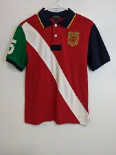 POLO RALPH LAUREN Rugby Polo Shirt Crest logo  Colorblock Boys  L (14-16 years)