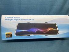 9.66 Inch Screen Starlight Night Vision Dash Cam Full Hd 1080p (New)