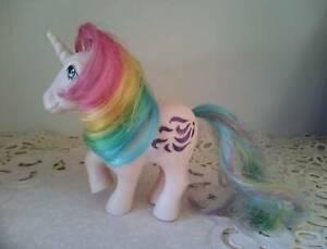 "STUNNING Original Vintage 1980s ""Rainbow Glitter Unicorn"" My Little Pony"