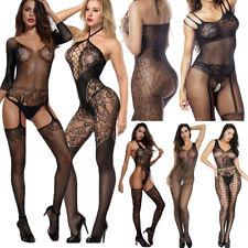 Sexy Lingerie Women's Fishnet Open Crotch Body Stocking Nightwear Bodysuit Lot