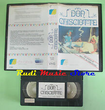 VHS film animazione DON CHISCIOTTE VIDEOBOX EDIZIONI VIDEO 55 minuti(F19) no dvd