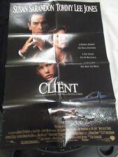 Vintage Movie Poster 1 sh The Client Susan Sarandon Tommy Lee Jones 1994