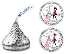 108 PARIS EIFFEL TOWER HERSHEY KISSES LABELS PARTY FAVORS CANDY STICKERS