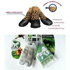 Nonslip Waterproof Dog Socks Anti Stain Booties Rubber Paw Protector Pet Shoes