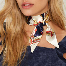 Colorful Silk Ribbon Unique Satin Collar Floral Painting Choker Necklace Scarf