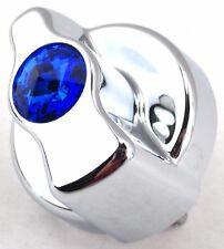 A/C heater control knob blue jewel chrome plastic for Peterbilt 1995-2005