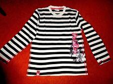 Chices T-Shirt Gr.176 (M) Langarm gestreift Motivdruck v. BEAT WEAR 100% Cotton
