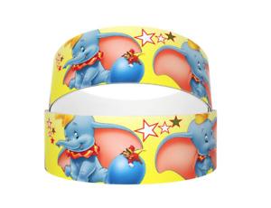 "Grosgrain Dumbo Elephant DisneyYellow with Stars Ribbon 22mm 7/8"""