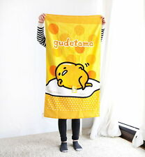 Sanrio ぐでたま Gudetama Egg Beach Towel 60x110cm Yellow 100% Cotton GT-10402-SB