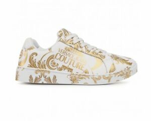 Versace Jeans Couture E0VZBSO1 71778 Leather Womens Trainers White Ladies Shoes