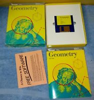 Vintage Sensei 1988 Apple GEOMETRY Math Software w/Manuals Floppy & Box J0488