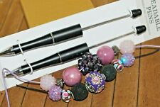 16 pc Beaded Pen Gift set, or for resale - Big hole Lampwork Beads - A2589c