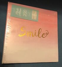 "Decorative Photo Album SMILE Hold 200 6""x4""Photos Pink Birthday Friend Gift"