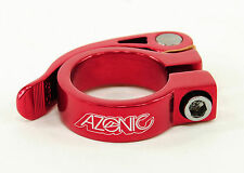 AZONIC GONZO SUPER LIGHT ALUMINUM QUICK RELEASE SEAT POST CLAMP, 31.8, RED
