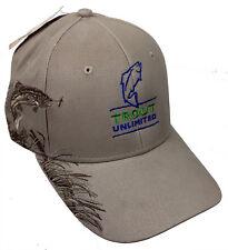 Trout Unlimited Logo & Rainbow Trout Khaki Cap