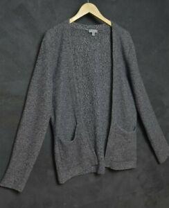 COS Men Cardigan L Open Front Linen Cotton Japanese Kimono Minimalistic Brushed
