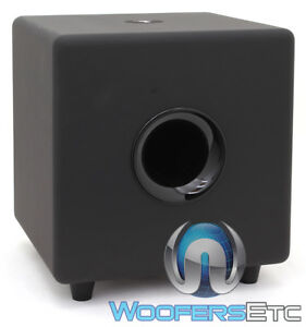 """FOCAL CUB3 BLACK COMPACT ACTIVE 8"""" POLYFLEX SUBWOOFER BASS SPEAKER HOME THEATER"""