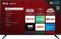 "TCL 75R617 75"" 6-Series 4K UHD Dolby Vision HDR Roku Smart TV  - 3 HDMI"