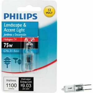 Philips 75W 12V Clear GY6.35 Base T4 Halogen Special Purpose Light Bulb 415588