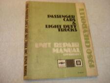 1980 Chevrolet Passenger Car & Truck Factory Unit Repair Overhaul Manual