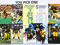 CFB WEST VIRGINIA MOUNTAINEERS WVU Football Schedule PICK FROM LIST 1980 1988 ++