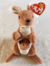 "Ty Beanie ""POUCH"" the Kangaroo with joey #4161 4th Gen Hang Tag 4th Gen Tush Tag"