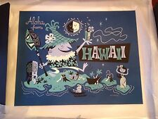 Aloha From Hawaii - Derek Yaniger limited edition serigraph. Never displayed.