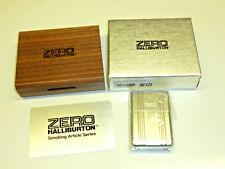 ZERO HALLIBURTON WHITE CASED ZIPPO LIGHTER - STURMFEUERZEUG - OVP - 2005 - RARE