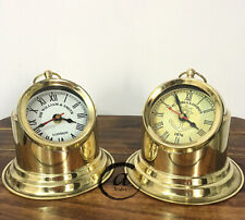 Vintage 2 pieces Clocks Bedside Victorian Style Clock Homemade Antique Style C