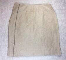 J CREW Skirt SZ 2 Tan 100% Linen Straight Pencil Knee Length