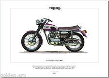 TRIUMPH DAYTONA T100R - Motocicleta Estampa - 500cc DOBLE SPORTSTER MOTO