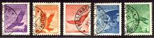 LIECHTENSTEIN #C9-13 Used - 1934-35 Birds Set