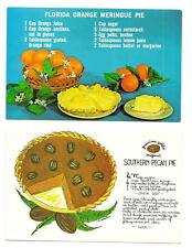 Orange Meringue Southern Pecan Pie Recipes FL GA PC Lot