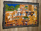 Vintage Classic Tapestry Of Dogs Playing Poker 54x38 Texas Hold'em Man Cave