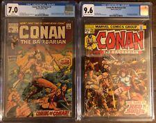 Conan the Barbarian 1 CGC 7.0 & 24 CGC 9.6. 1st Conan & full Red Sonja! 🔥 🔥