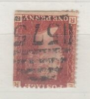 GB QV 1d Red Watermark Inverted SG43wi Plate 101 VFU X9141