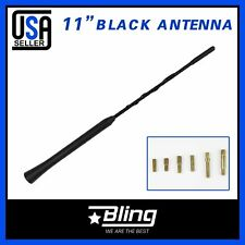 11inch Antenna Aerial Mast Car Radio Signal Replace For Acura Black w/7 Screw On