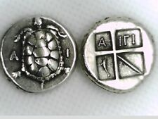 More details for greece greek tortoise stater aegina sea turtle dolphin coin islands of attica